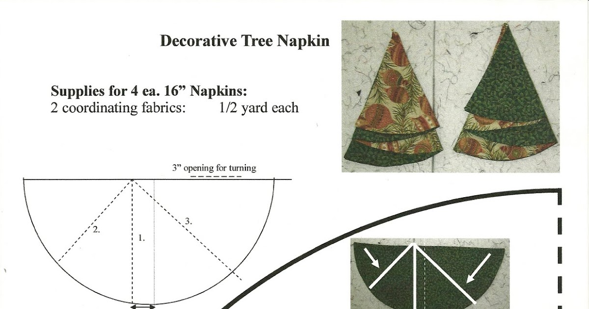 Quilter's Fun: Christmas Tree Napkins