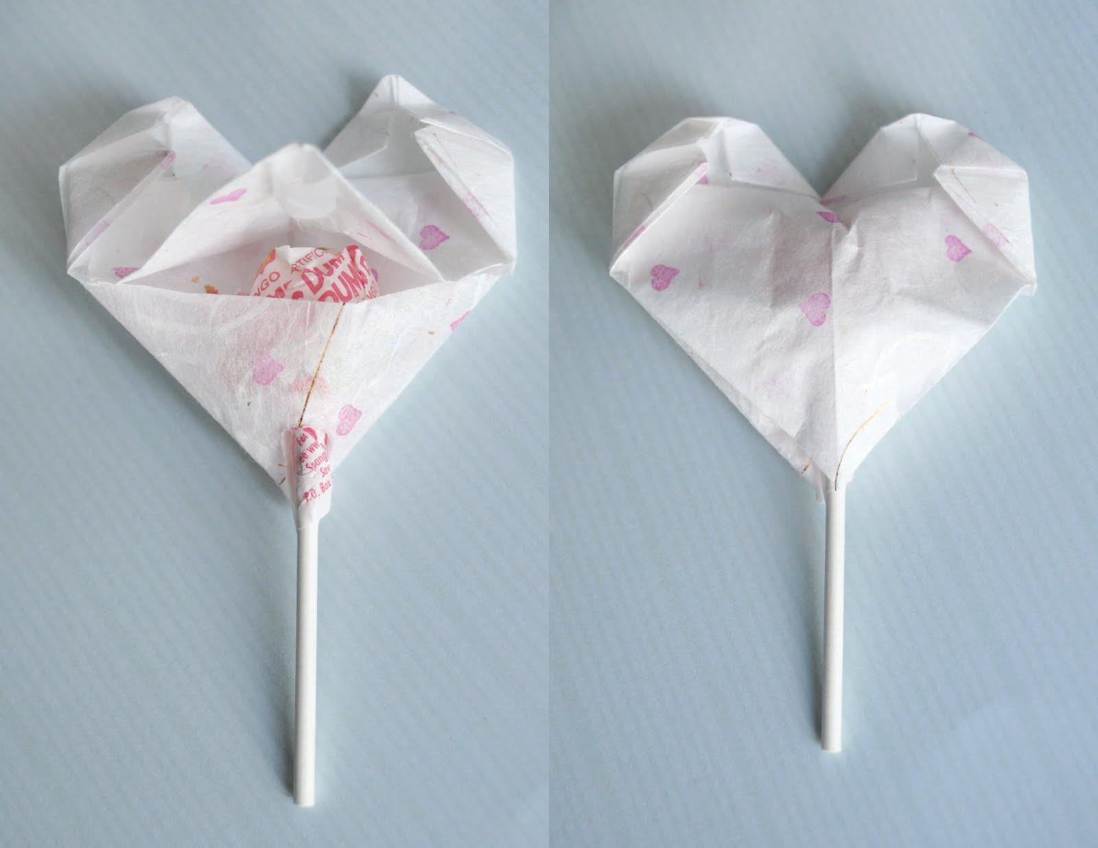 zakka life: Craft: Origami Heart Valentines - photo#26