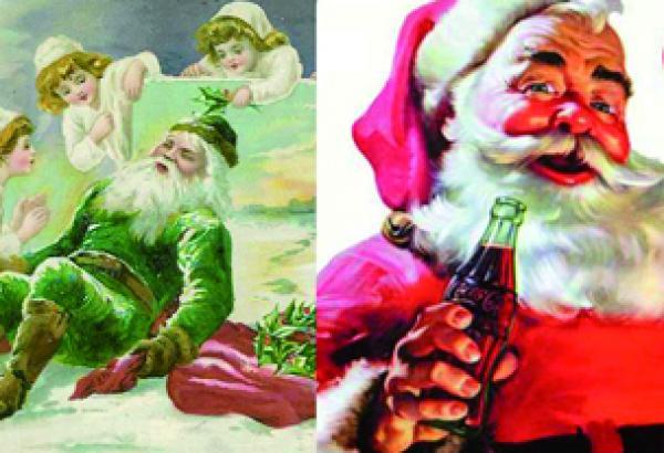 Nomuchodeque : Papá Noel Vestía De Verde Y Blanco Y Coca