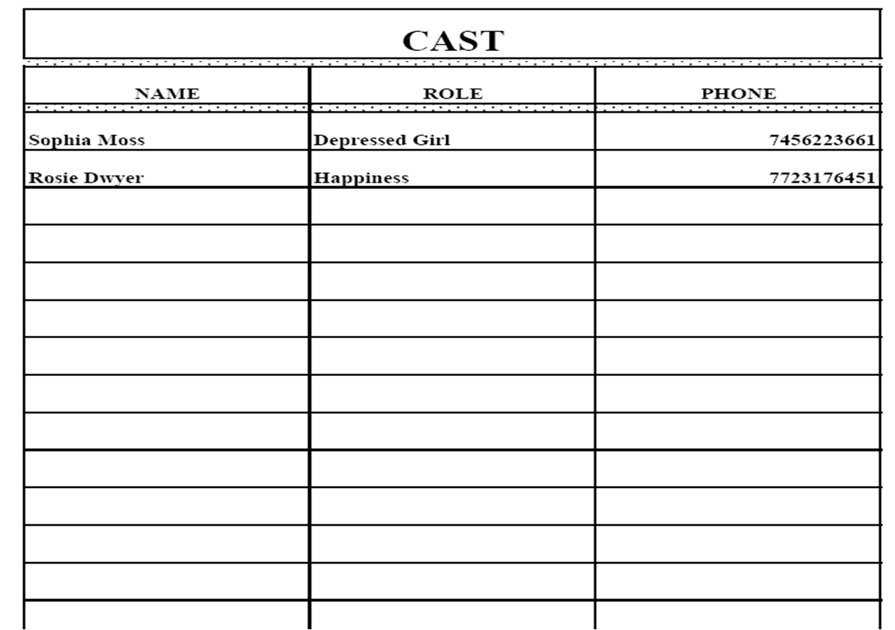 Doc585415 Sales Call Sheets Call Sheet Template 21 Free Word – Call Sheet Template Word