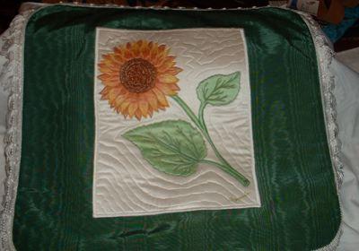 [pillow+sunflower]