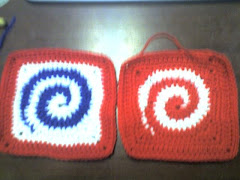Crocheted Swirl Squares