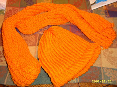 Orange Scarf and Hat