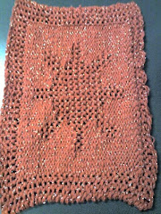 Loomed Sun Dishcloth