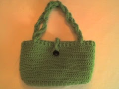 Green Crocheted Purse