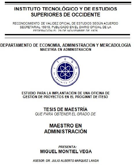 PMO en el PROGINNT del ITESO 01 al 10 Oct - Metodología de la