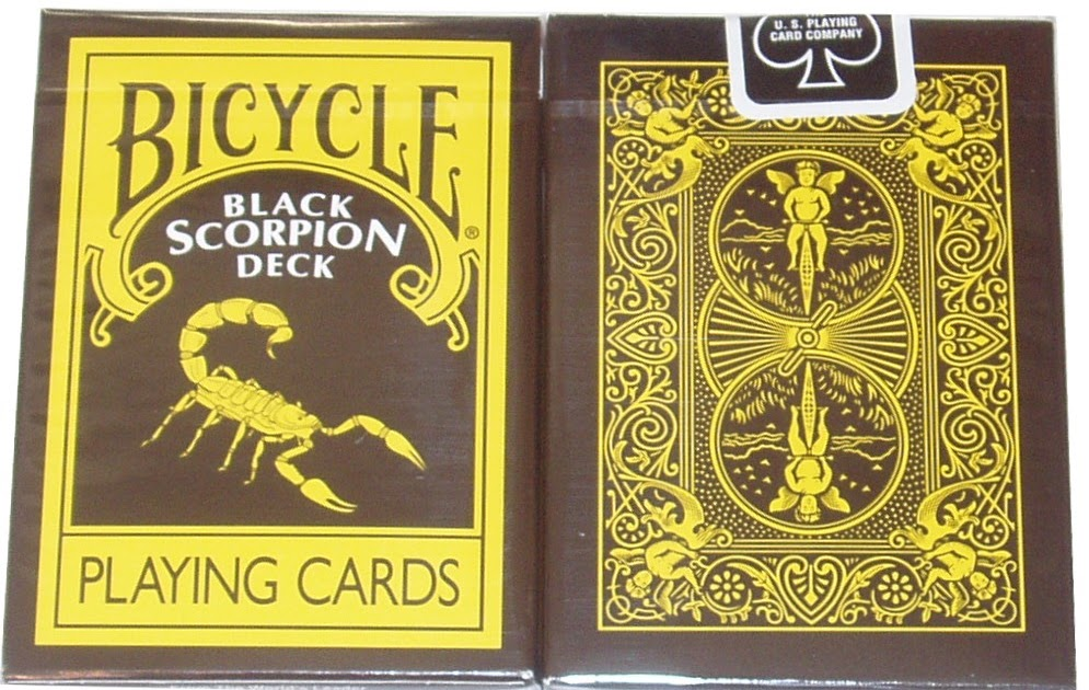 The 1 Eyed Jack: Black Scorpion Deck, Bicycle Playing Cards
