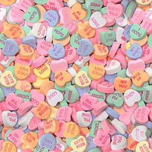Valentine Heart Candy Gets New Sayings