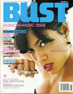 BUST Magazine Cover, August/September 2007
