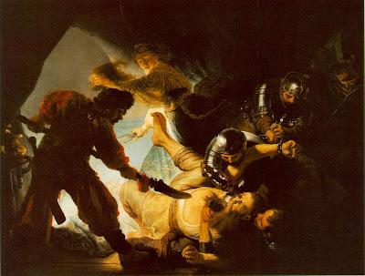 Rembrandt, The Blinding of Samson, 1636. Städelsches Kunstinstitut, Frankfurt