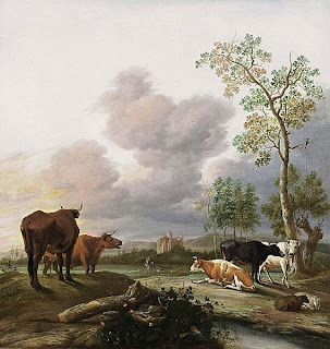 Borssom, Landscape with Cows and Sheep