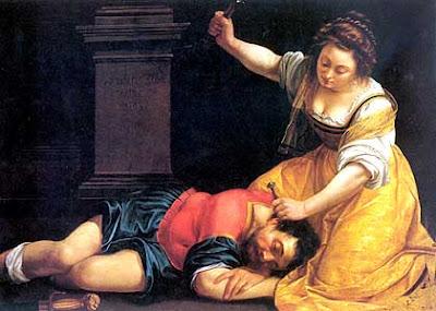 Artemisia Gentileschi, Jael & Sisera.