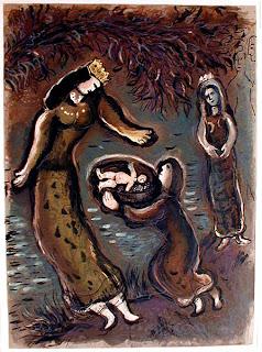 Chagall, 'Pharaoh's Daughter and Moses'