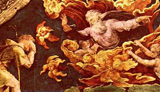 Raphael, 'The Burning Bush' (detail)