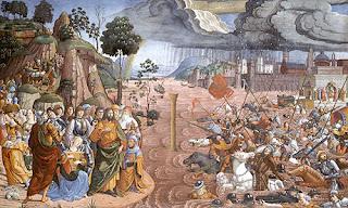 Biagio de Antonio -- The Crossing of the Red Sea
