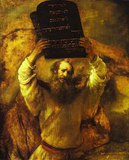 Rembrandt. Moses Smashing the Tables of the Law. 1659. Oil on canvas.