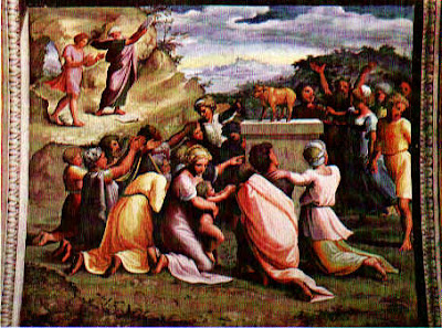 Raphael, Adoring the Golden Calf (1518-19), Palazzi Pontifici, Vatican