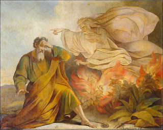 Eugene Pluchart -- God Appears to Moses in Burning Bush (1848)