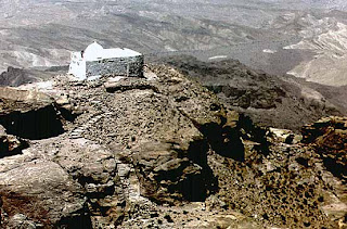 The Tomb of Aaron: a shrine said to rest on the gravesite of Aaron, on a mountain thought maybe to be Biblical Mt. Hor.