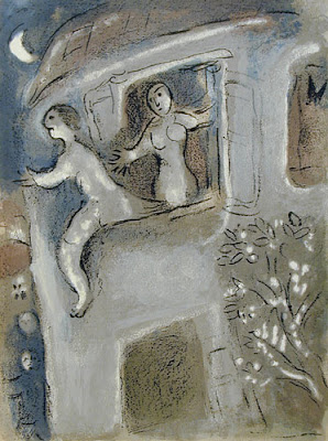 Chagall, David Saved by Michal