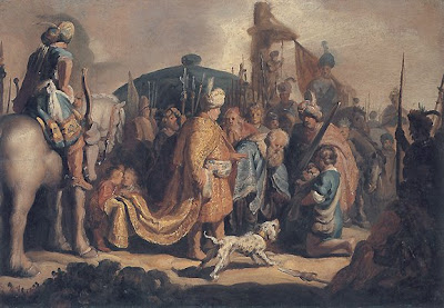 Rembrandt, David Presents the Head of Goliath to King Saul