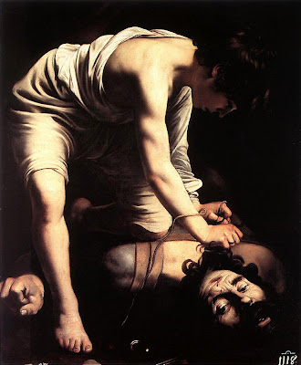 Caravaggio, David and Goliath