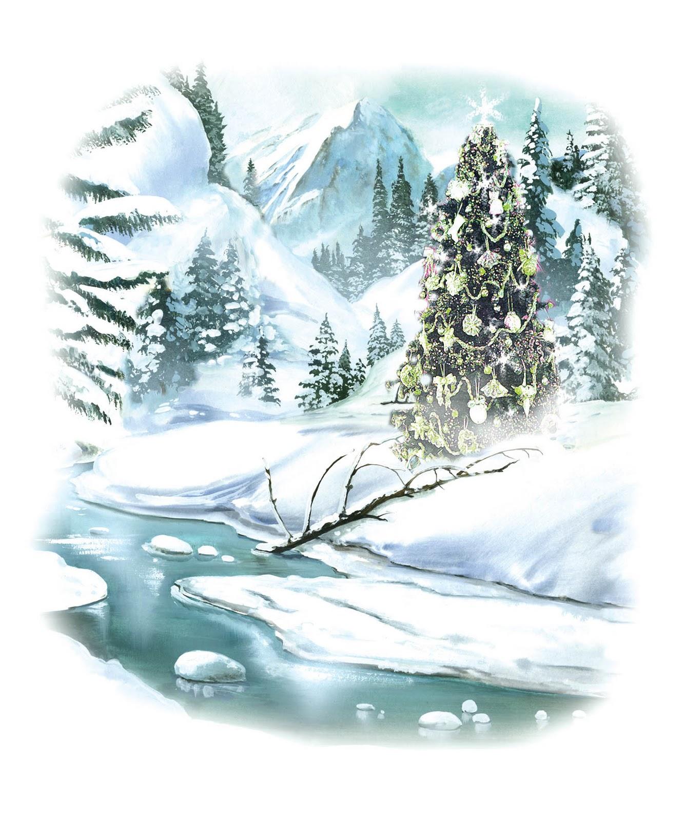 clipart snow scene - photo #18