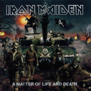 Portada Iron Maiden a matter of life and death