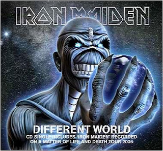 Portada Iron Maiden different world
