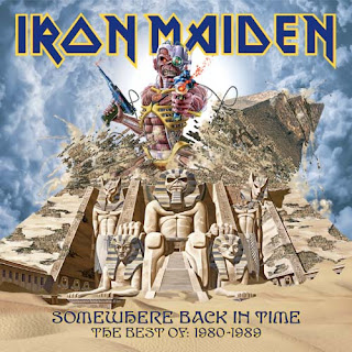 Portada Iron Maiden somewhere back in time
