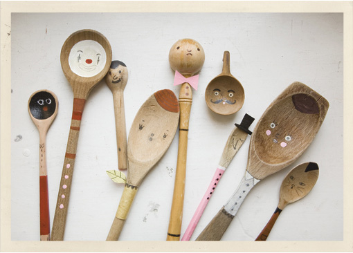 Painted Wooden Spoons Say Yes