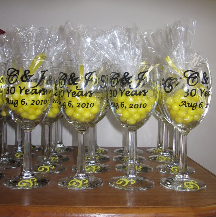 30th wedding anniversary invitations and custom designed wine