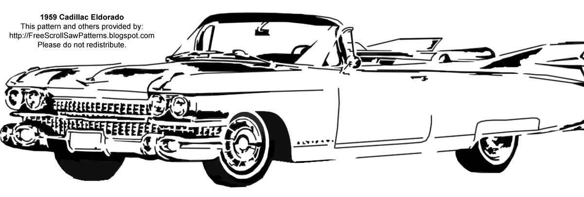 Free Scroll Saw Patterns: 1959 Cadillac Eldorado