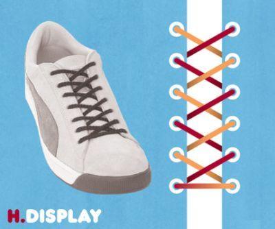 excelentes maneras de usar cordones para los zapatos tennis :D 014
