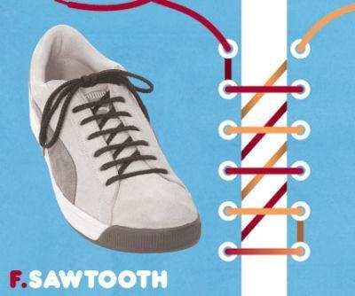 excelentes maneras de usar cordones para los zapatos tennis :D 012