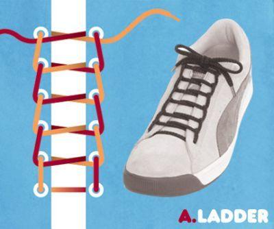 excelentes maneras de usar cordones para los zapatos tennis :D 001