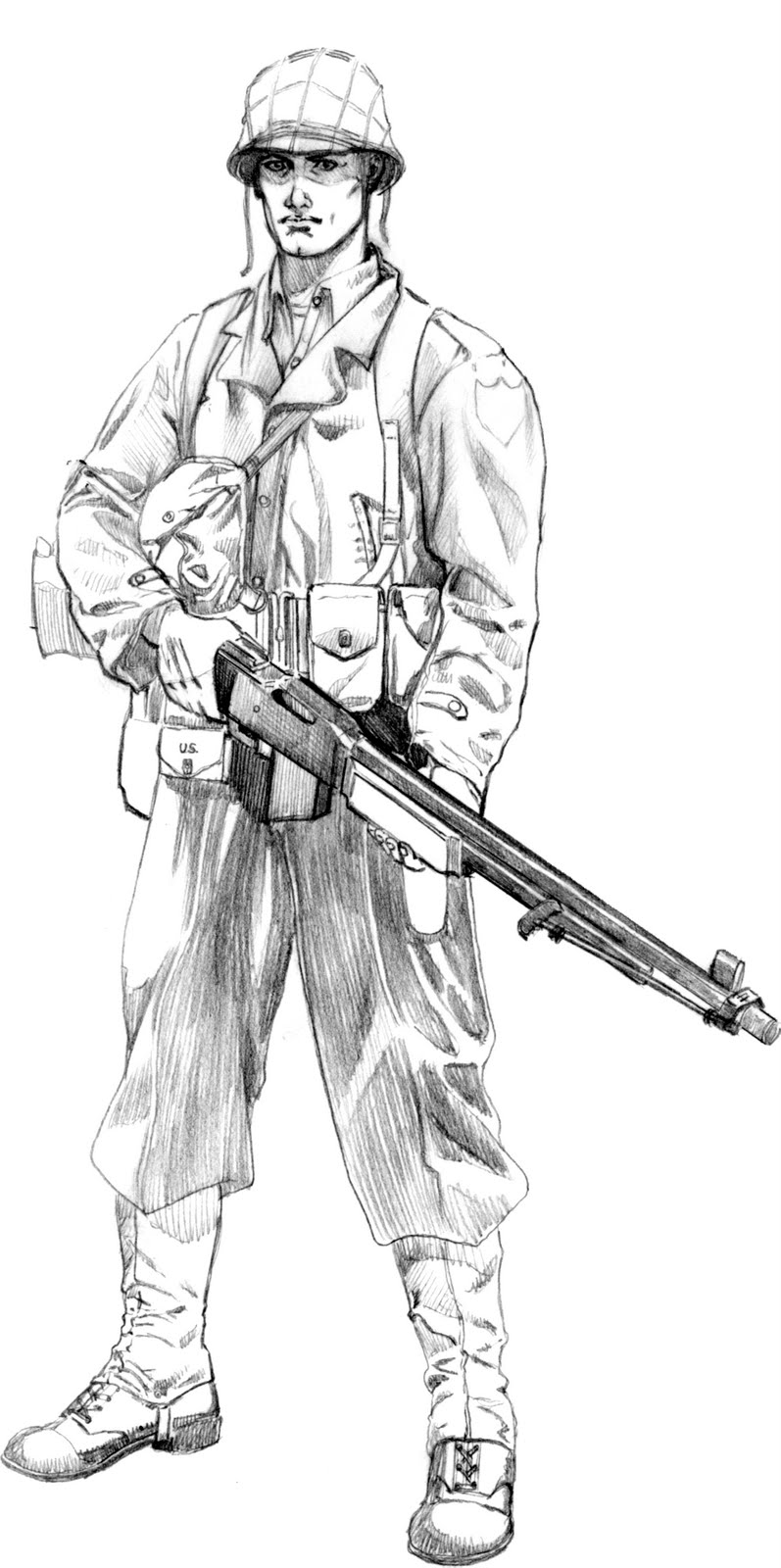 american soldier drawing - photo #7