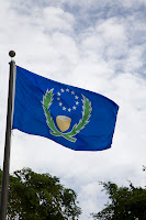 Pohnpei State Flag, on flagpole