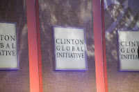 Clinton Global Initiative sign