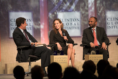 Angelina Jolie and panelists