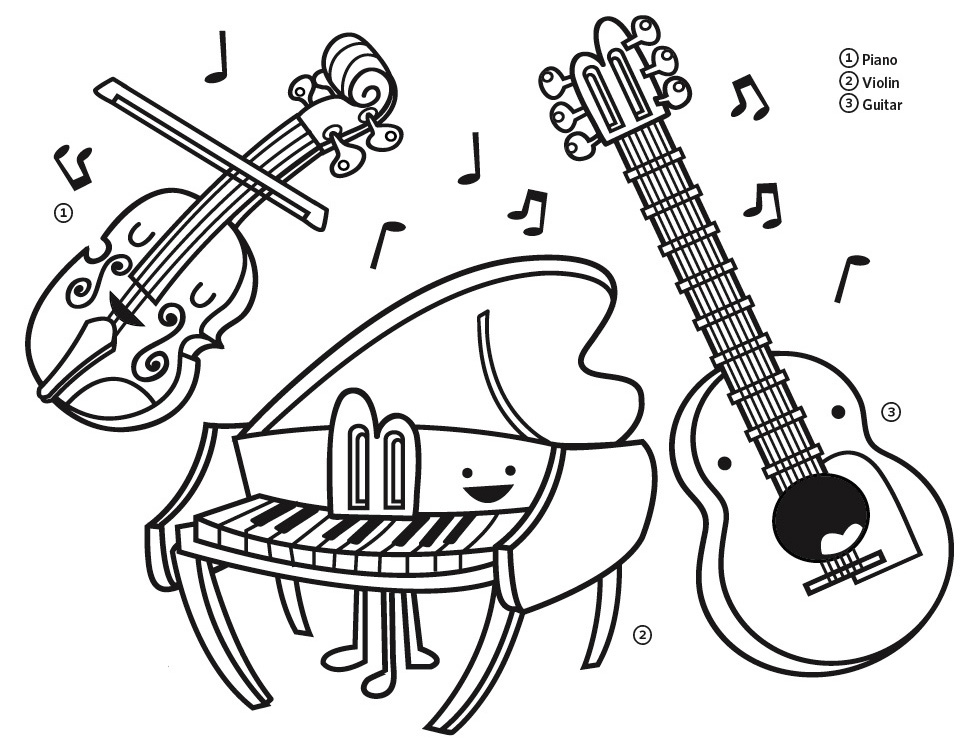 Recorder Instrument Coloring Page Printable Coloring Pages