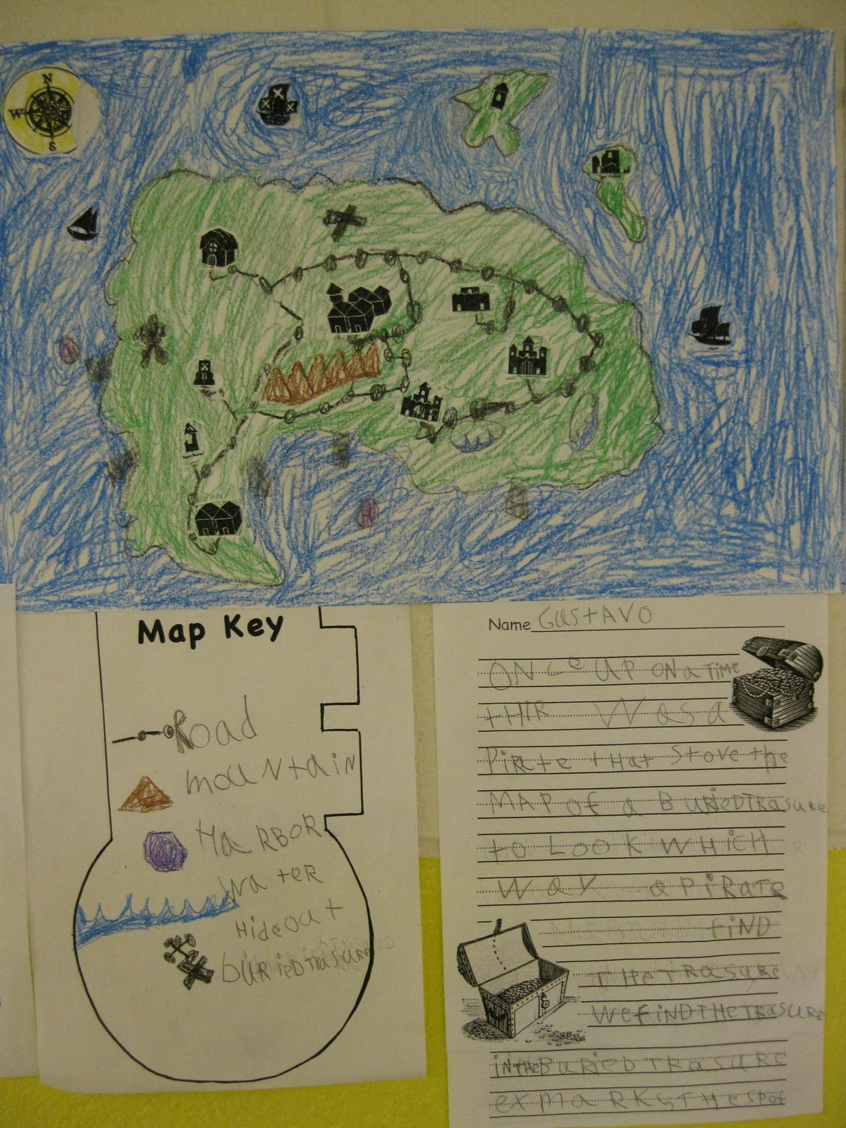 1st Grade Learning Stars  Children s Engineering  Pirate map 1st Grade Learning Stars