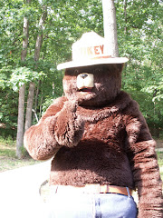Smokey visits Indiana Dunes State Park campgrounds..