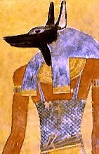 Anubis, a guardian of the dead, in the tomb of Twosret and Setnakhte