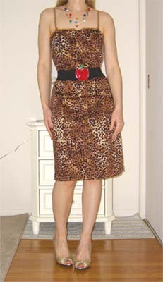 Rave leopard dress