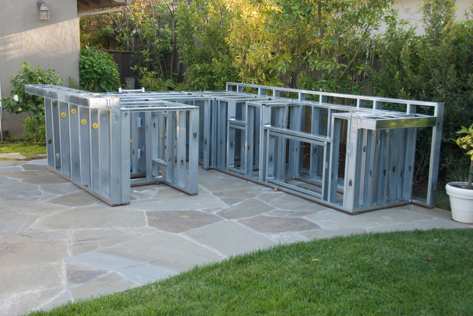 Outdoor Kitchen Frame Appliances Sale Construction The Next Phase