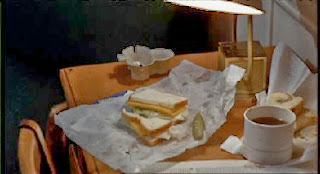 Item: one sandwich, abandoned in a hospital. Always looks very appetising.