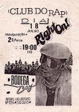 FLYER RARO DO LEGENDÁRIO CLUBE DO RAP