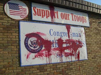 Sign Outside Congressman Rogers' Office