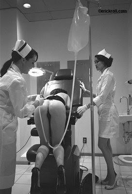 nurses giving enemas fleet